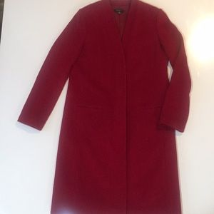 Red Ann Taylor Coat :Size 10 Tall